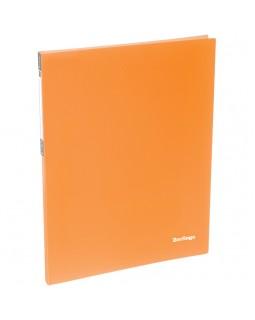 """Папка c пружинным скоросшивателем Berlingo """"Neon"""", 17мм, 700мкм, неоновая оранжевая"""