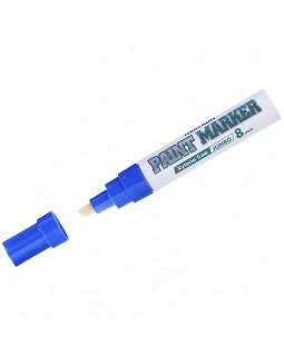 """Маркер-краска MunHwa """"Jumbo Chisel"""" синяя, 8мм, нитро-основа"""