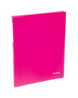 """Папка c пружинным скоросшивателем Berlingo """"Neon"""", 17мм, 700мкм, неоновая розовая"""