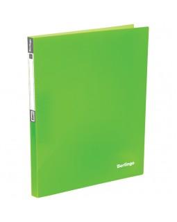 """Папка с 40 вкладышами Berlingo """"Neon"""", 21мм, 700мкм, неоновая зеленая"""
