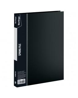 """Папка с пружинным скоросшивателем Berlingo """"Standard"""", 17мм, 700мкм, черная"""