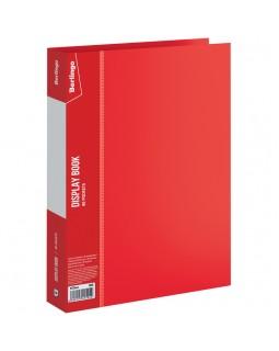 """Папка с 80 вкладышами Berlingo """"Standard"""", 30мм, 800мкм, красная"""