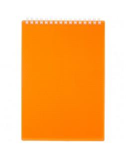"""Блокнот А5 80л. на гребне Hatber """"Diamond Neon- Оранжевый"""", пластиковая обложка"""