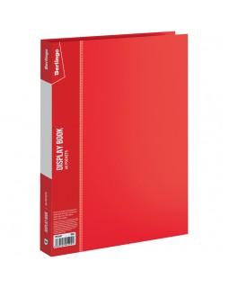 """Папка с 60 вкладышами Berlingo """"Standard"""", 21мм, 700мкм, красная"""