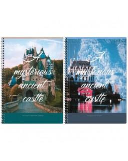 "Тетрадь 80л., А4, клетка на гребне ArtSpace ""Путешествия. Mysterious castle"", ВД-лак"