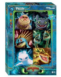 """Мозаика """"puzzle"""" 160 """"Как приручить дракона - 3"""" (DreamWorks)"""