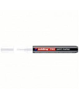 "Маркер-краска Edding ""790"" белый, 2-3мм, пластиковый корпус"