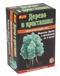 Магический лес. Дерево в кристаллах (зеленое)
