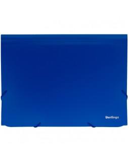 """Папка 13 отделений Berlingo """"Standard"""", А4, 700мкм, на резинке, синяя"""