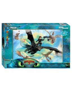 """Мозаика """"puzzle"""" 560 """"Как приручить дракона - 3"""" (DreamWorks)"""