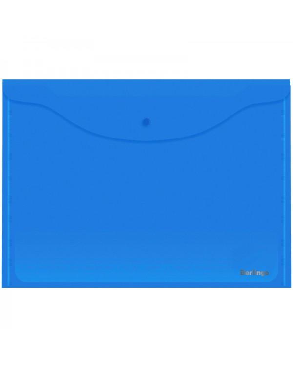 Папка-конверт на кнопке Berlingo, А3, 180мкм, синяя