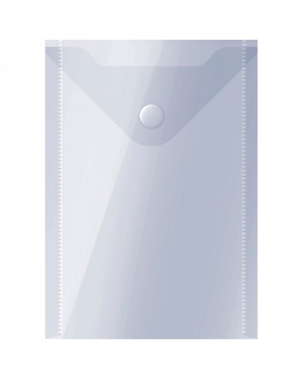 Папка-конверт на кнопке OfficeSpace, А6 (105*148мм), 150мкм, прозрачная