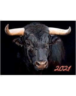 Календарь квартальный КВК-8 Черный бык