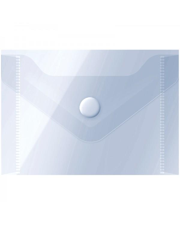 Папка-конверт на кнопке OfficeSpace, А7 (74*105мм), 150мкм, прозрачная
