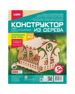"""Конструктор деревянный Lori """"Кормушка для птиц. Набор №2"""""""