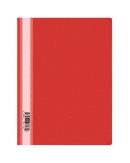 Папка-скоросшиватель пластик. OfficeSpace, А4, 160мкм, красная с прозр. верхом