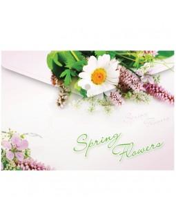 """Папка-конверт на кнопке Berlingo """"Spring Flowers"""", А4, 180мкм, рисунок"""