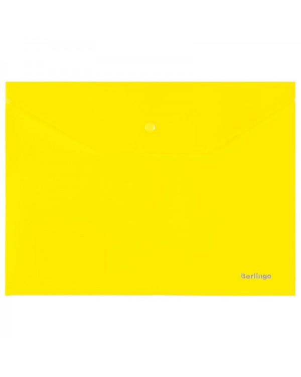 Папка-конверт на кнопке Berlingo, B5, 180мкм, ассорти