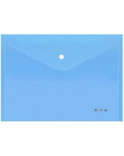 """Папка-конверт на кнопке Berlingo """"Starlight"""", А4, 180мкм, прозрачная голубая"""