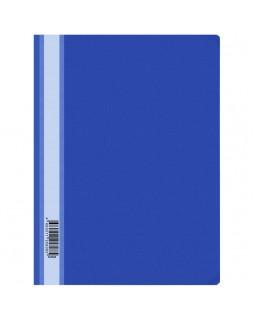 Папка-скоросшиватель пластик. OfficeSpace, А4, 160мкм, синяя с прозр. верхом