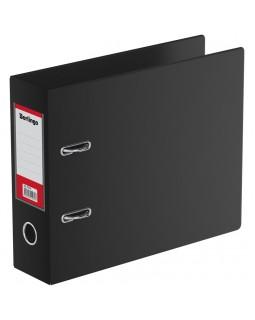 Папка-регистратор Berlingo, 70мм, А5, горизонтальная, ПВХ, с карманом на корешке, черная