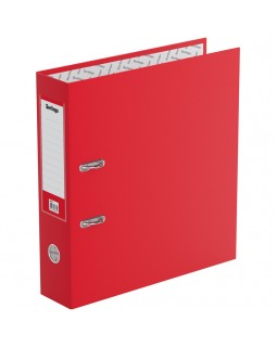 """Папка-регистратор Berlingo """"Standard"""", 70мм, бумвинил, с карманом на корешке, красная"""