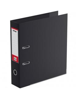 Папка-регистратор Berlingo, 70мм, двусторонний бумвинил, с карманом на кор.,ниж. метал. кант, черная