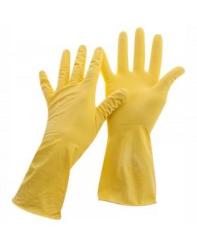 Перчатки резиновые хозяйственные OfficeClean Стандарт+, супер прочные, р.L, желтые