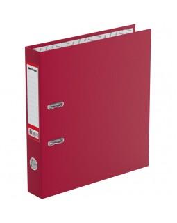 """Папка-регистратор Berlingo """"Standard"""", 50мм, бумвинил, с карманом на корешке, бордовая"""