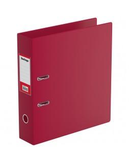Папка-регистратор Berlingo, 70мм, ПВХ, с карманом на корешке, бордовая