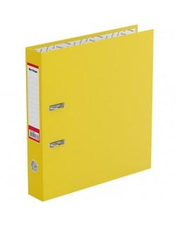 "Папка-регистратор Berlingo ""Standard"", 50мм, бумвинил, с карманом на корешке, желтая"
