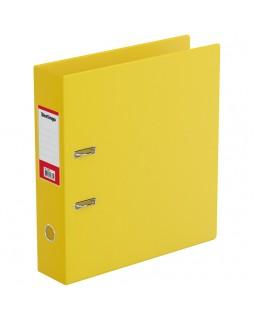 Папка-регистратор Berlingo, 70мм, ПВХ, с карманом на корешке, желтая