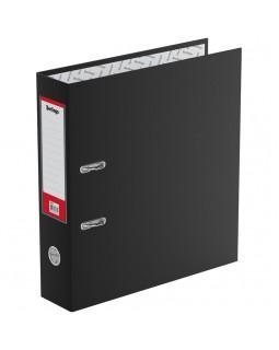 """Папка-регистратор Berlingo """"Standard"""", 70мм, бумвинил, с карманом на корешке, черная"""