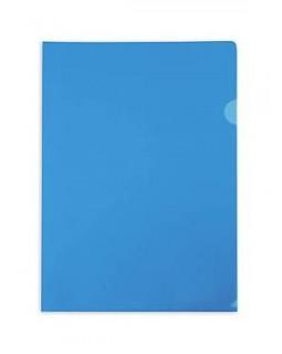 Папка-уголок А4 синяя 150 микрон