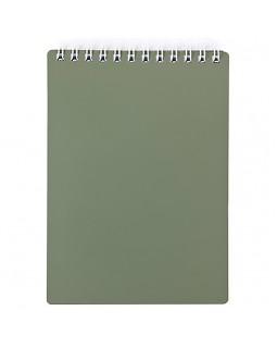 """Блокнот А7 80л. на гребне Hatber """"Metallic - Темно-зеленый"""", пластиковая обложка"""