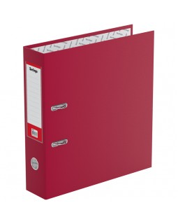 """Папка-регистратор Berlingo """"Standard"""", 70мм, бумвинил, с карманом на корешке, бордовая"""