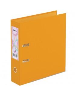 """Папка-регистратор Berlingo """"Spring"""", 70мм, бумвинил, двухстор., с карманом, ниж. мет. кант, оранжевая"""