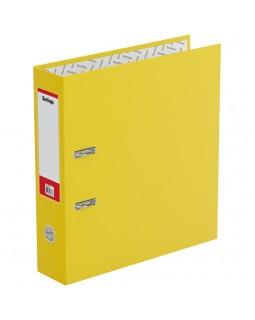 "Папка-регистратор Berlingo ""Standard"", 70мм, бумвинил, с карманом на корешке, желтая"