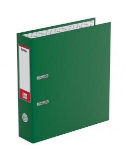 """Папка-регистратор Berlingo """"Standard"""", 70мм, бумвинил, с карманом на корешке, зеленая"""