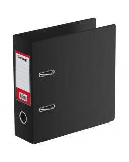 Папка-регистратор Berlingo, 70мм, А5, вертикальная, ПВХ, с карманом на корешке, черная
