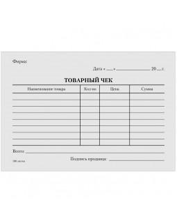 """Бланк """"Товарный чек"""" OfficeSpace, А6, газетка, 100 экз., в пленке т/у"""