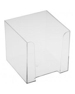 Подставка для бумажного блока Стамм, 9*9*9, прозрачный