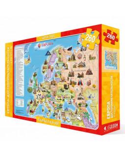 Карта-пазл. Европа. Достопримечательности