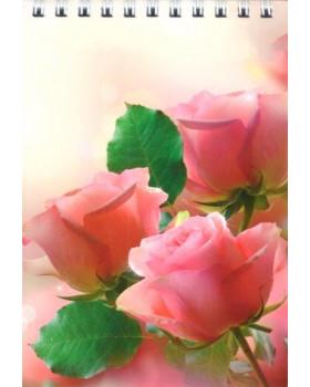 Цветы. Блокнот в клетку А6