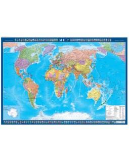 Карта Мир политический с флагами стран 1,0*0,7