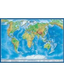 Карта Мира физическая 1,0*0,7