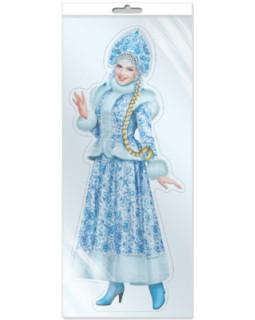 Плакат вырубной в пакете: Снегурочка (с европодвесом и клеевым клапаном) *Ф-9873-П