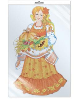 Плакат вырубной в пакете: Девушка Осень *ФБ-12867