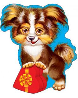 Плакат вырубной Собачка с сердцем Ф-7281