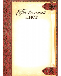 Похвальный лист (без символики) Ш-5433